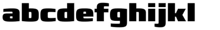 Francker Std ExtraBlack Font LOWERCASE