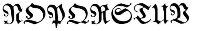Franconian Font UPPERCASE