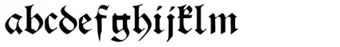 Franconian Font LOWERCASE