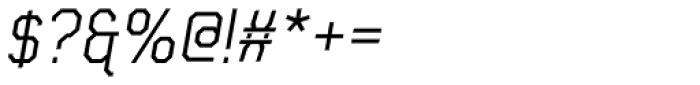Frangle Italic Font OTHER CHARS