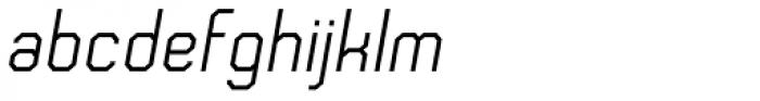 Frangle Italic Font LOWERCASE