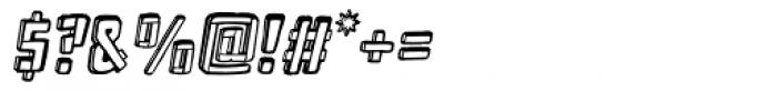 Frankenstein Clean Oblique Font OTHER CHARS