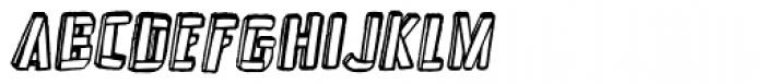 Frankenstein Clean Oblique Font LOWERCASE