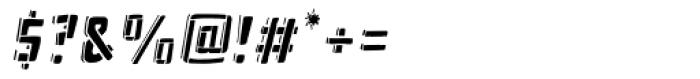 Frankenstein Stencil Oblique Font OTHER CHARS