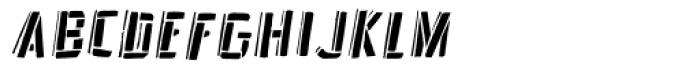 Frankenstein Stencil Oblique Font LOWERCASE
