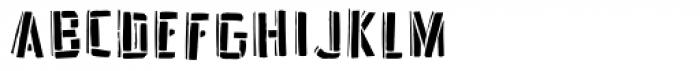 Frankenstein Stencil Font LOWERCASE