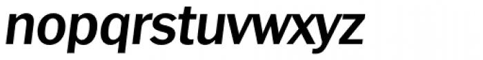 Franklin Goth TS Dem Bold Italic Font LOWERCASE