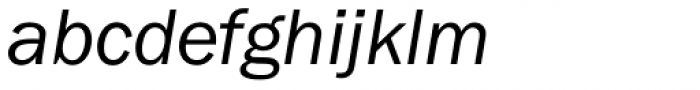 Franklin Gothic Book Italic Font LOWERCASE