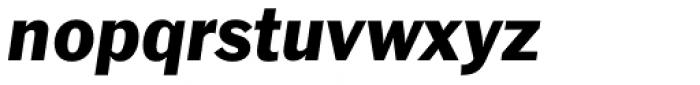 Franklin Gothic EF Italic Font LOWERCASE