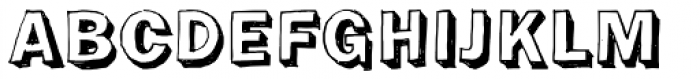 Franklin Gothic Hand Demi Shadow Font UPPERCASE
