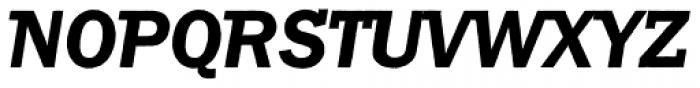 Franklin Gothic Raw Semi Serif Demi Oblique Font UPPERCASE