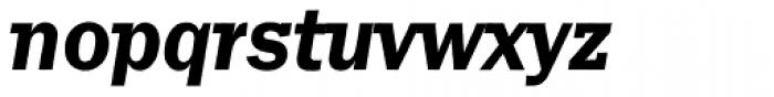 Franklin Gothic Raw Semi Serif Demi Oblique Font LOWERCASE