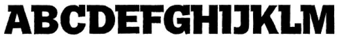 Franklin Gothic Raw Semi Serif Heavy Font UPPERCASE