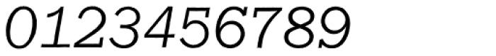 Franklin Gothic Raw Semi Serif Light Oblique Font OTHER CHARS