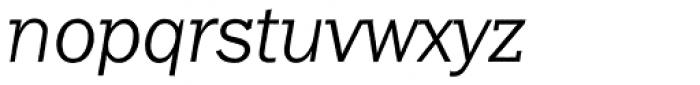 Franklin Gothic Raw Semi Serif Light Oblique Font LOWERCASE