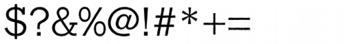 Franklin Gothic Raw Semi Serif Light Font OTHER CHARS