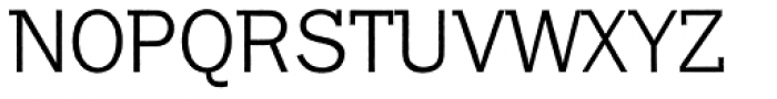 Franklin Gothic Raw Semi Serif Light Font UPPERCASE