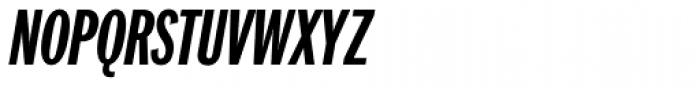 Franklin Pro Compressed Bold Italic Font UPPERCASE