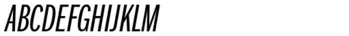 Franklin Pro Compressed Light Italic Font UPPERCASE