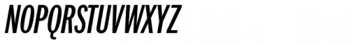 Franklin Pro Compressed Medium Italic Font UPPERCASE