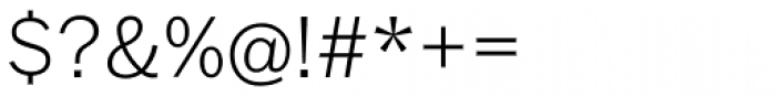 Franklin Std Thin Font OTHER CHARS