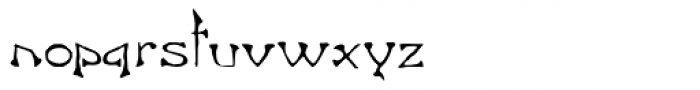 Freak Font LOWERCASE