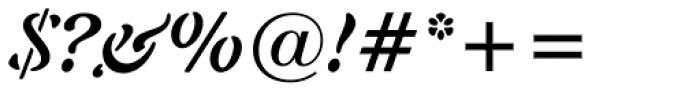 Freeform 721 Bold Italic Font OTHER CHARS