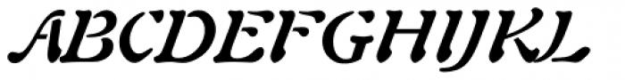 Freeform 721 Bold Italic Font UPPERCASE