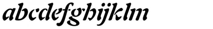 Freeform 721 Bold Italic Font LOWERCASE