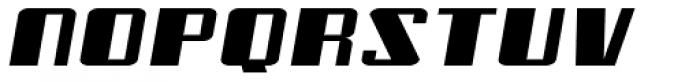 Freezer BTN Wide Oblique Font LOWERCASE
