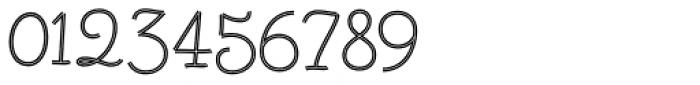 Fregata Script Inline Font OTHER CHARS