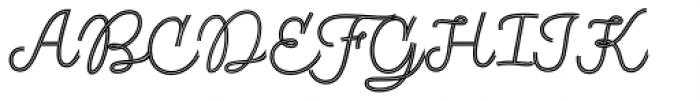 Fregata Script Inline Font UPPERCASE