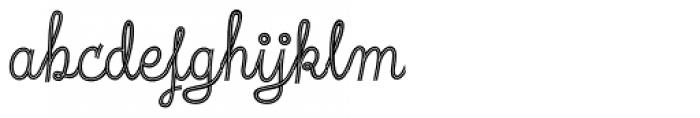 Fregata Script Inline Font LOWERCASE