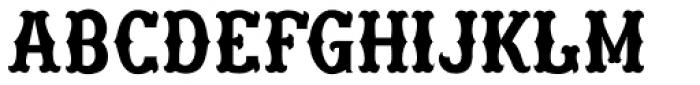 Freibeuter NR High smooth light Font UPPERCASE