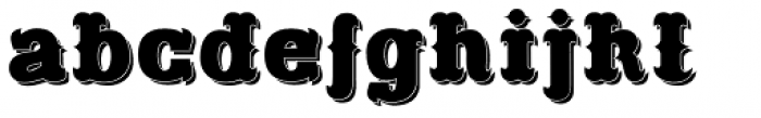 Freibeuter NR Shadow Font LOWERCASE