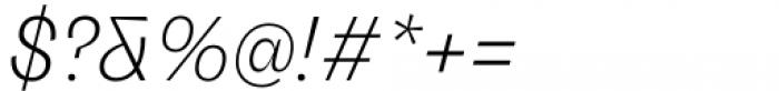 Freigeist Light Italic Font OTHER CHARS