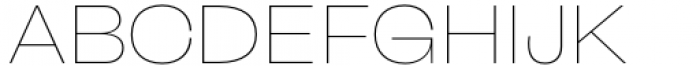Freigeist Wide Thin Font UPPERCASE