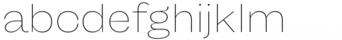 Freigeist Wide Thin Font LOWERCASE