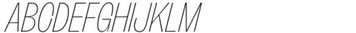 Freigeist XCon Thin Italic Font UPPERCASE
