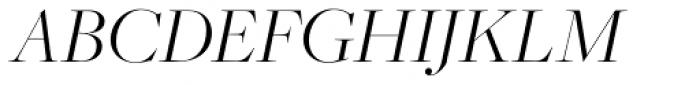 Freight Big Pro Light Italic Font UPPERCASE