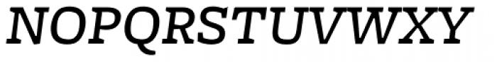 Freight Micro Medium Italic SC Font UPPERCASE