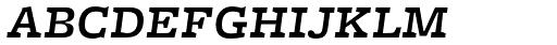 Freight Micro Medium Italic SC Font LOWERCASE