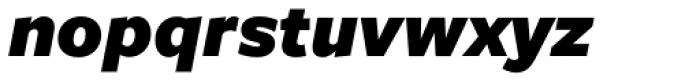 Freight Sans Black Italic Font LOWERCASE