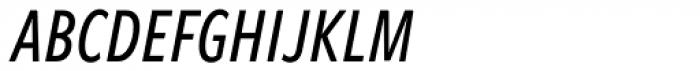 Freight Sans Compressed Pro Medium Italic Font UPPERCASE