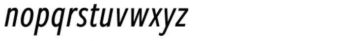 Freight Sans Compressed Pro Medium Italic Font LOWERCASE