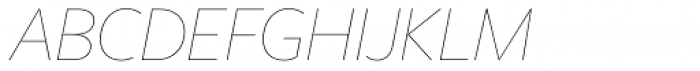 Freight Sans HPro Hairlines Hairline Italic Font UPPERCASE