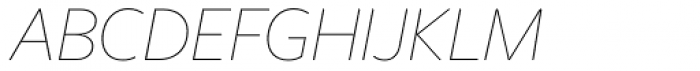 Freight Sans HPro Hairlines Thin Italic Font UPPERCASE