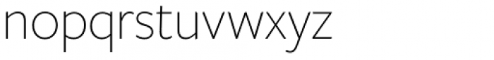 Freight Sans HPro Hairlines XLight Font LOWERCASE