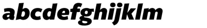 Freight Sans Pro Black Italic Font LOWERCASE