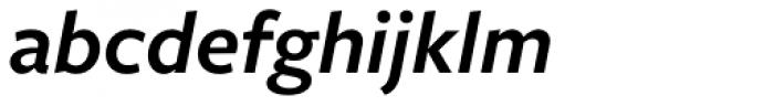 Freight Sans Pro SemiBold Italic Font LOWERCASE